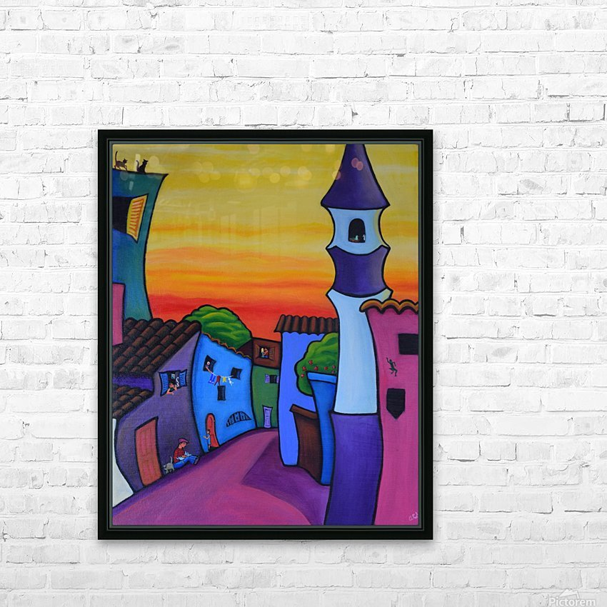Lane in Languedoc HD Sublimation Metal print with Decorating Float Frame (BOX)