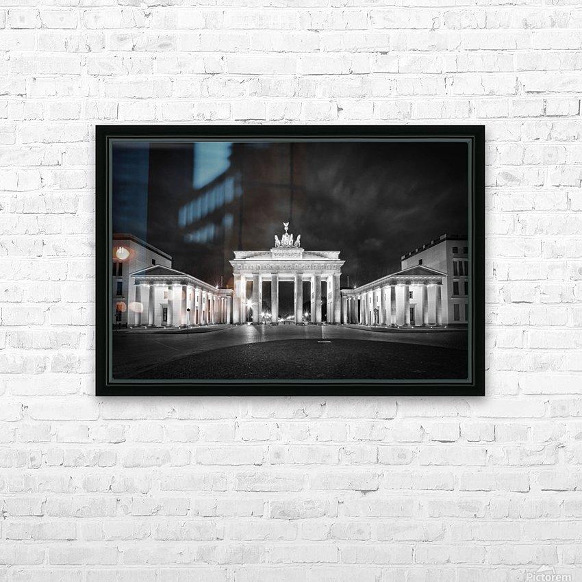 BERLIN Brandenburg Gate   Monochrome HD Sublimation Metal print with Decorating Float Frame (BOX)