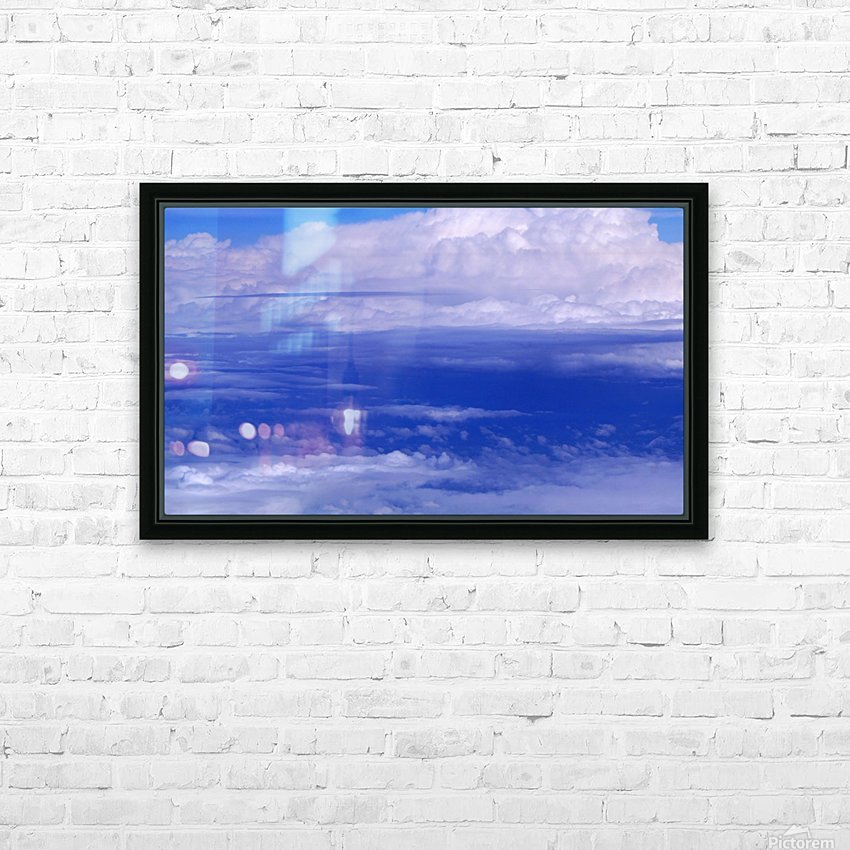 clouds HD Sublimation Metal print with Decorating Float Frame (BOX)