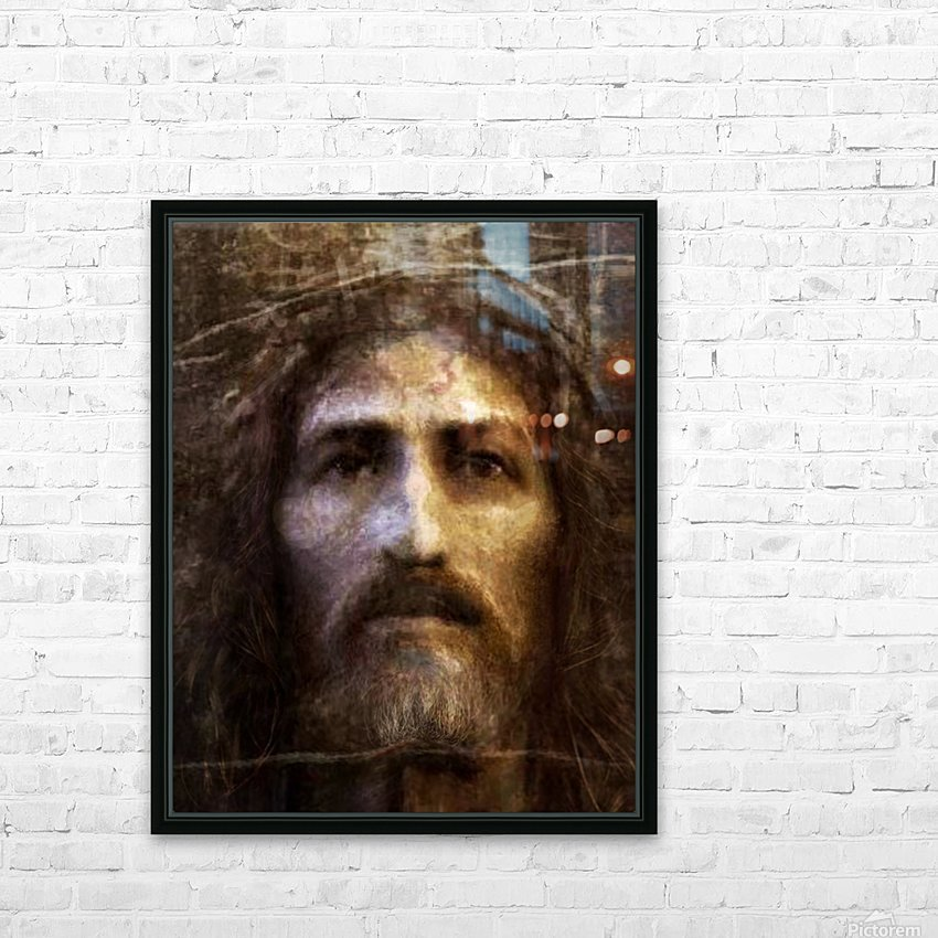 Christ face reconstruction HD Sublimation Metal print with Decorating Float Frame (BOX)