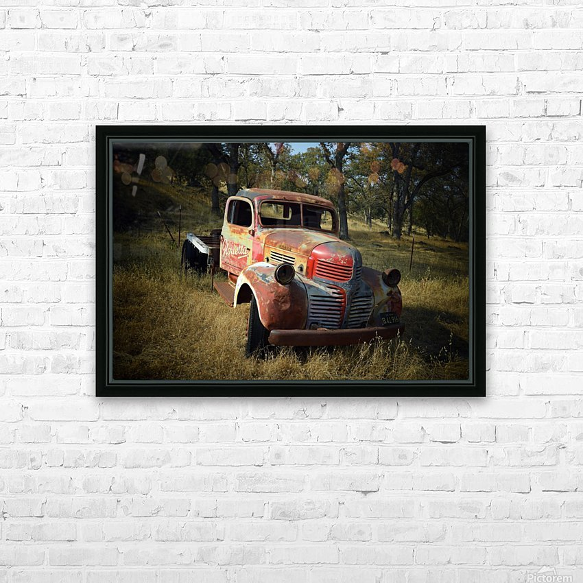 Abandoned Dodge Truck HD Sublimation Metal print with Decorating Float Frame (BOX)