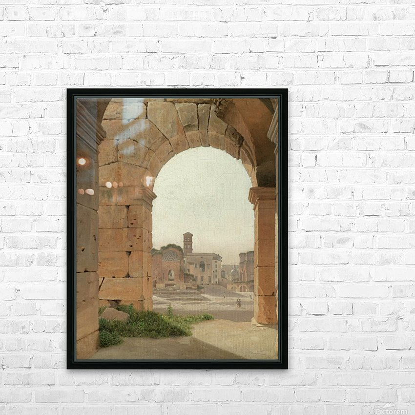 Forum Romanum set fra Colosseum HD Sublimation Metal print with Decorating Float Frame (BOX)