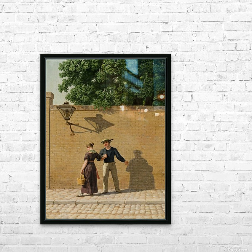 A sailor taking leave of his girlfriend 1840 HD Sublimation Metal print with Decorating Float Frame (BOX)