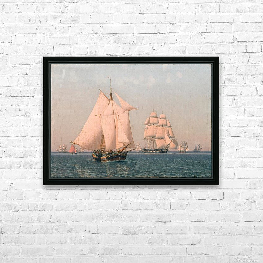 Ships under sail in mild breeze on clear summer afternoon HD Sublimation Metal print with Decorating Float Frame (BOX)