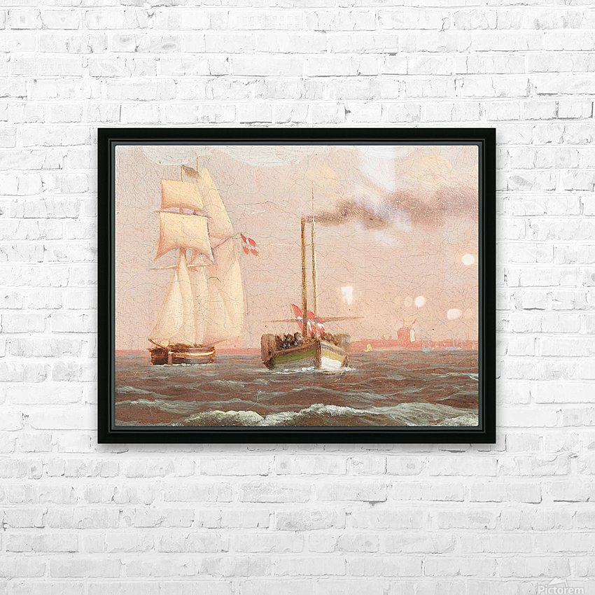 Danish paddle steamer HD Sublimation Metal print with Decorating Float Frame (BOX)