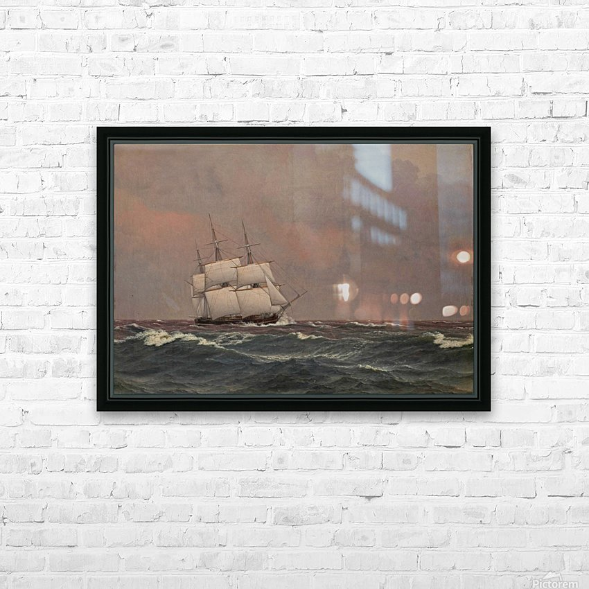 The corvette Najaden in rough seas HD Sublimation Metal print with Decorating Float Frame (BOX)