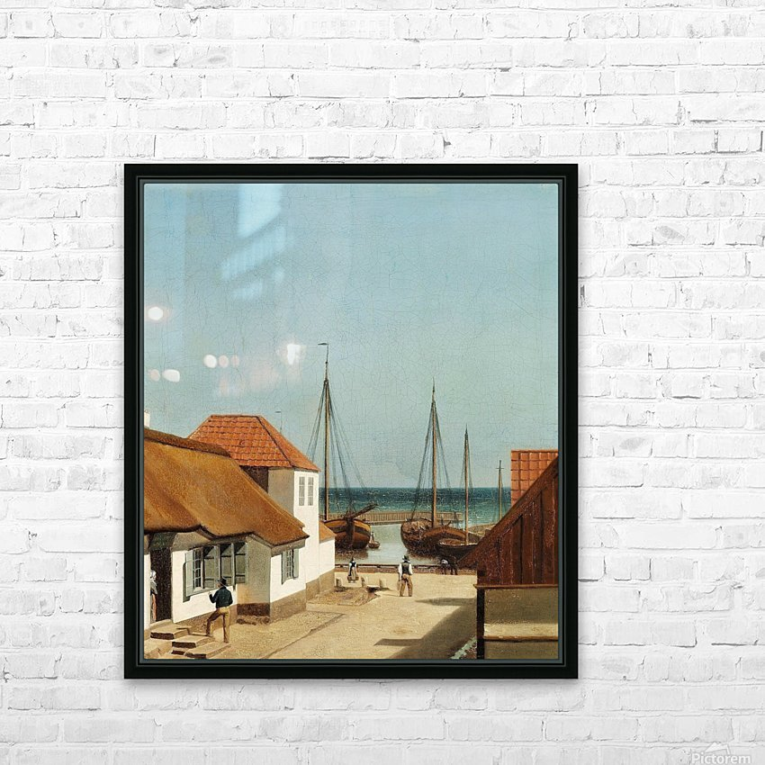 Boats leaving the port HD Sublimation Metal print with Decorating Float Frame (BOX)