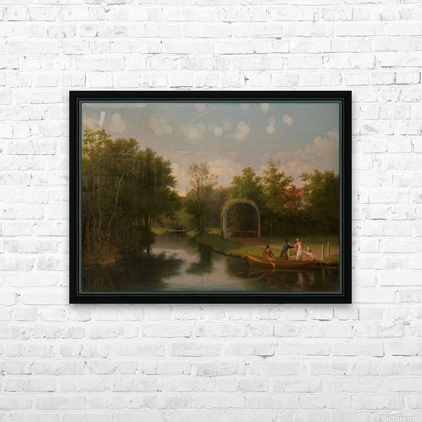 Arbour in the park of Sanderumgard manor HD Sublimation Metal print with Decorating Float Frame (BOX)
