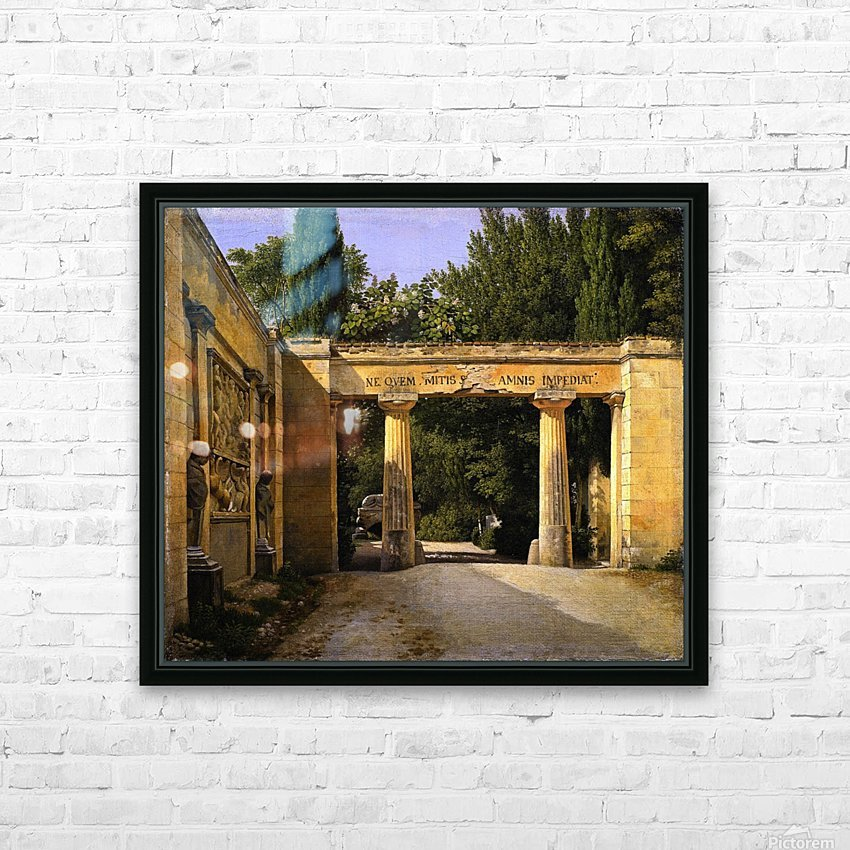 View of the Garden of the Villa Borghese in Rome HD Sublimation Metal print with Decorating Float Frame (BOX)