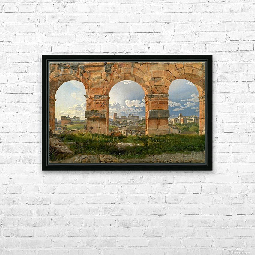 A View through Three of the North-Western Arches of the Third Storey of the Coliseum in Rome, 1815 HD Sublimation Metal print with Decorating Float Frame (BOX)