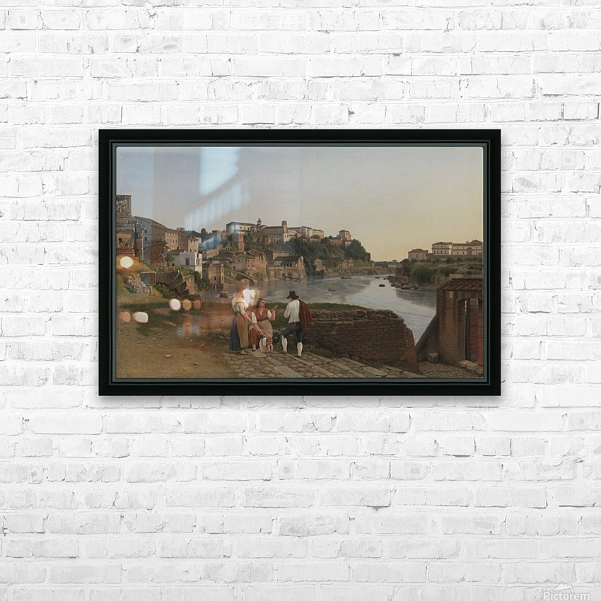 View of the Tiber near Ponte Rotto HD Sublimation Metal print with Decorating Float Frame (BOX)