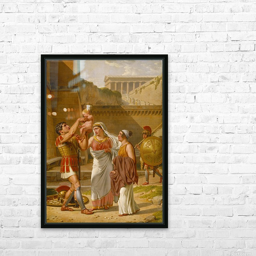 Hector's farewell to Andromache HD Sublimation Metal print with Decorating Float Frame (BOX)