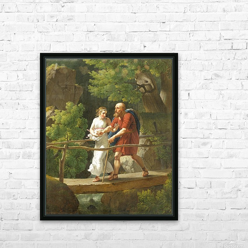 Oedipus and Antigone HD Sublimation Metal print with Decorating Float Frame (BOX)