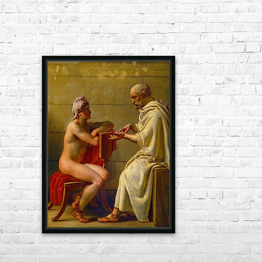 Socrates and Alcibiades HD Sublimation Metal print with Decorating Float Frame (BOX)