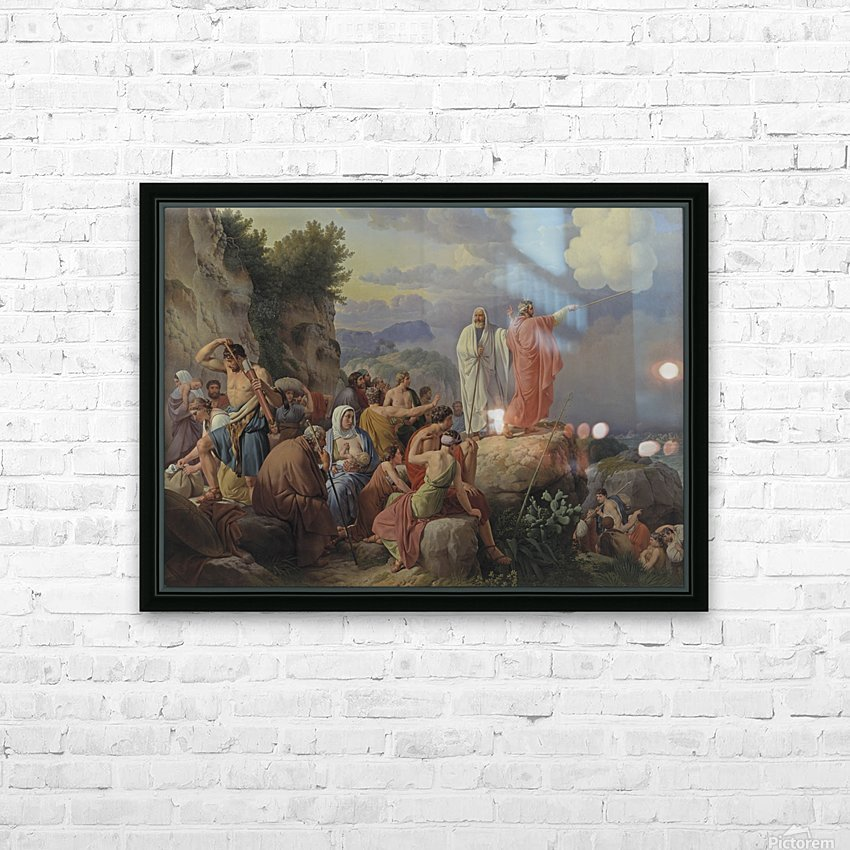 Israelites resting after the crossing of the Red Sea, 1815 HD Sublimation Metal print with Decorating Float Frame (BOX)