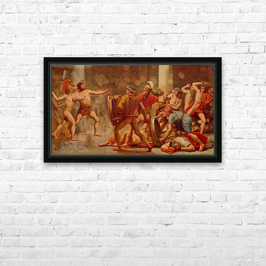 Ulysses revenge on Penelopes suitors HD Sublimation Metal print with Decorating Float Frame (BOX)