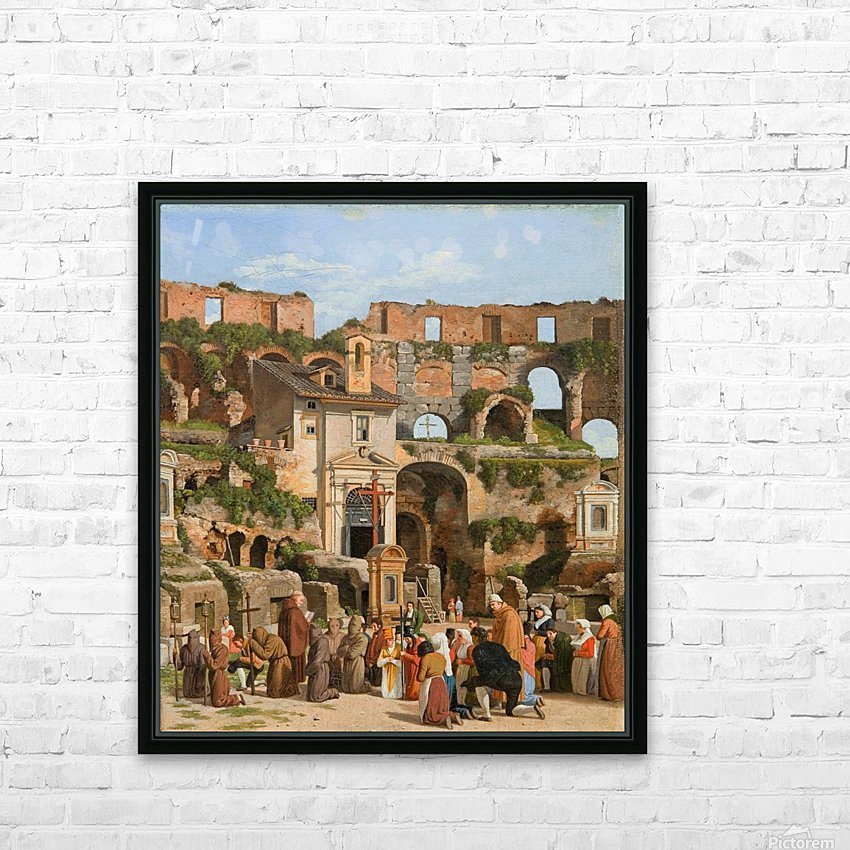 View of the interior of the Colosseum HD Sublimation Metal print with Decorating Float Frame (BOX)