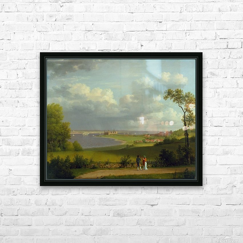 View north of Kronborg Castle HD Sublimation Metal print with Decorating Float Frame (BOX)