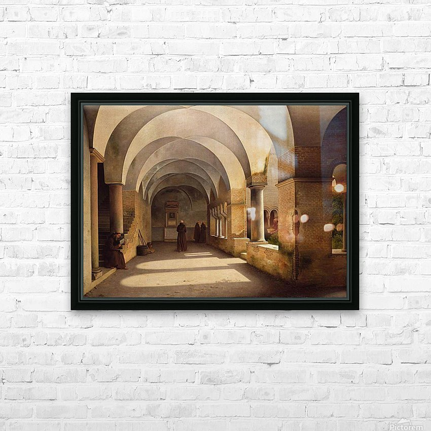 The Cloisters, San Lorenzo fuori le mura HD Sublimation Metal print with Decorating Float Frame (BOX)