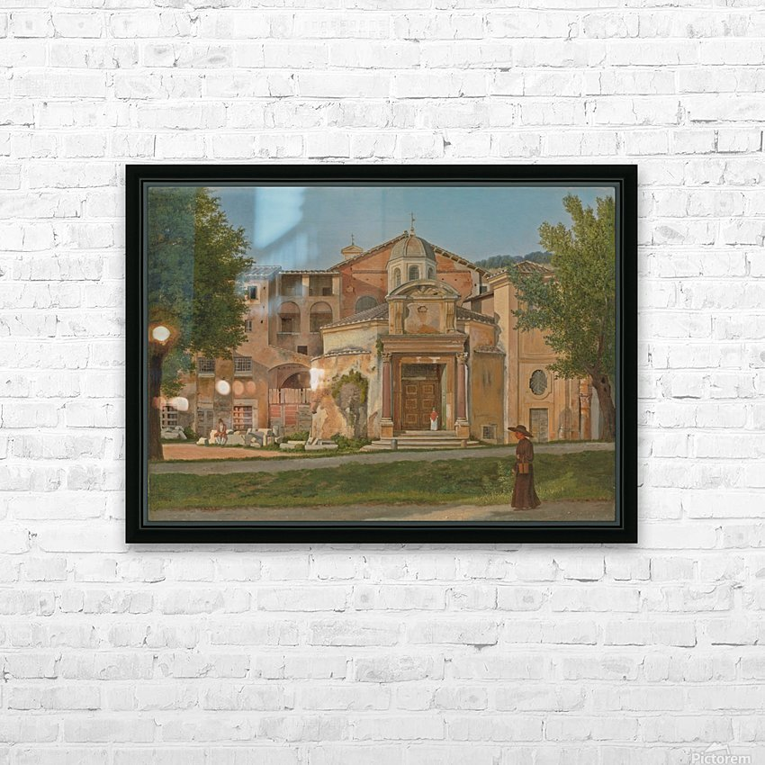 A Section of the Via Sacra, Rome HD Sublimation Metal print with Decorating Float Frame (BOX)