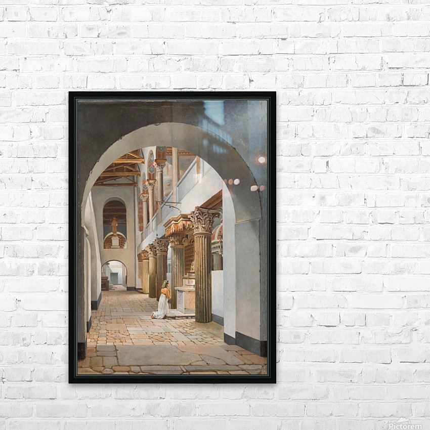 View of the Church of San Lorenzo fuori le Mura HD Sublimation Metal print with Decorating Float Frame (BOX)