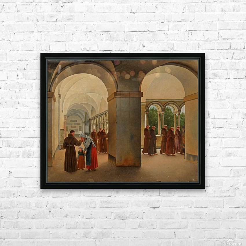 Procession of monks in the cloister of the Basilica San Paolo Fuori le Mura in Rome HD Sublimation Metal print with Decorating Float Frame (BOX)