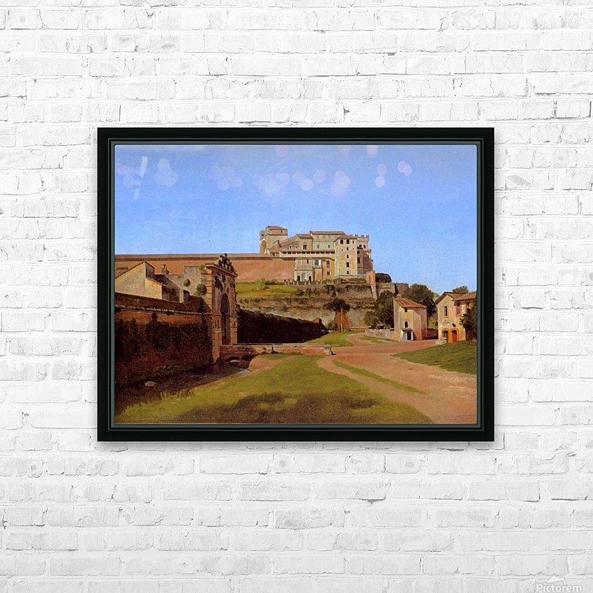 Rome, Porta Angelica and part of the Vatican, 1813 HD Sublimation Metal print with Decorating Float Frame (BOX)