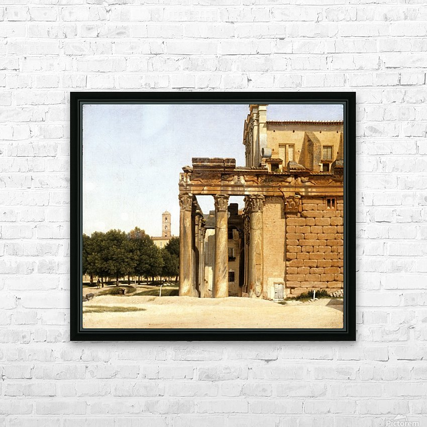 View of the Via Sacra, Rome, 1814 HD Sublimation Metal print with Decorating Float Frame (BOX)