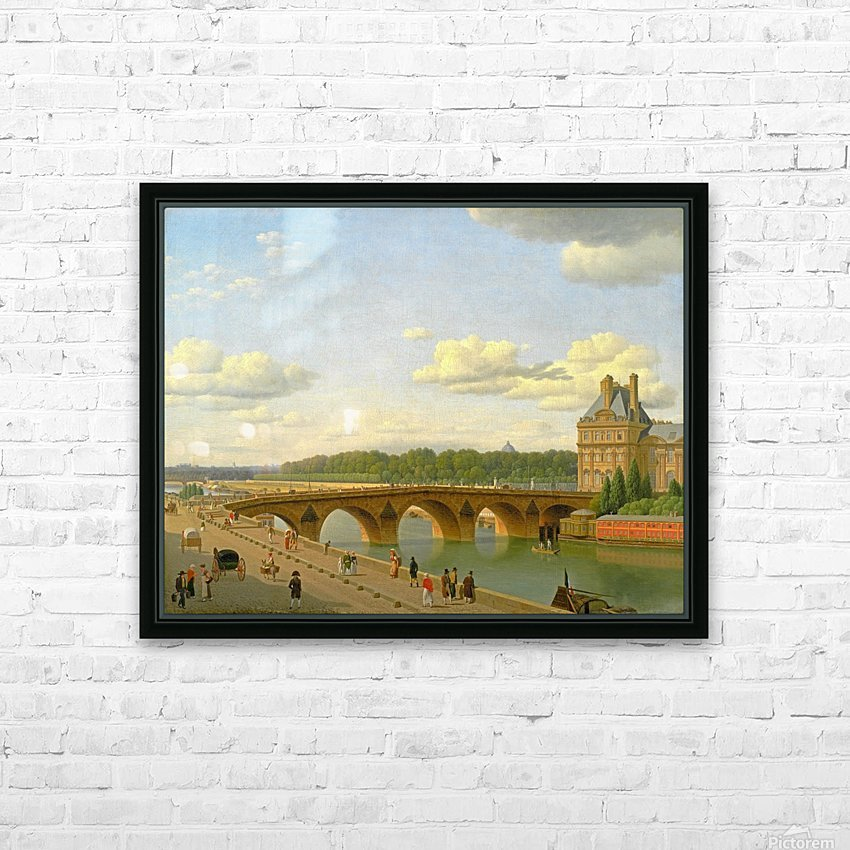 View at Pont Royal from Voltaire Quai in Paris HD Sublimation Metal print with Decorating Float Frame (BOX)