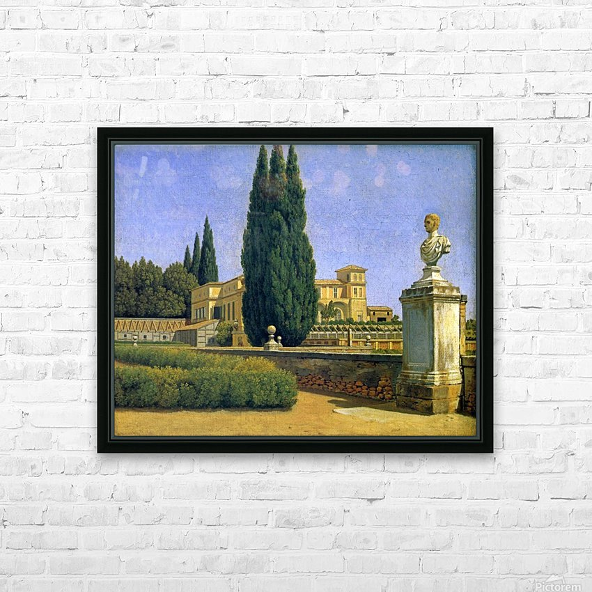 In the Gardens of the Villa Albani HD Sublimation Metal print with Decorating Float Frame (BOX)