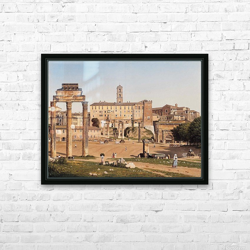 View of the Forum in Rome HD Sublimation Metal print with Decorating Float Frame (BOX)