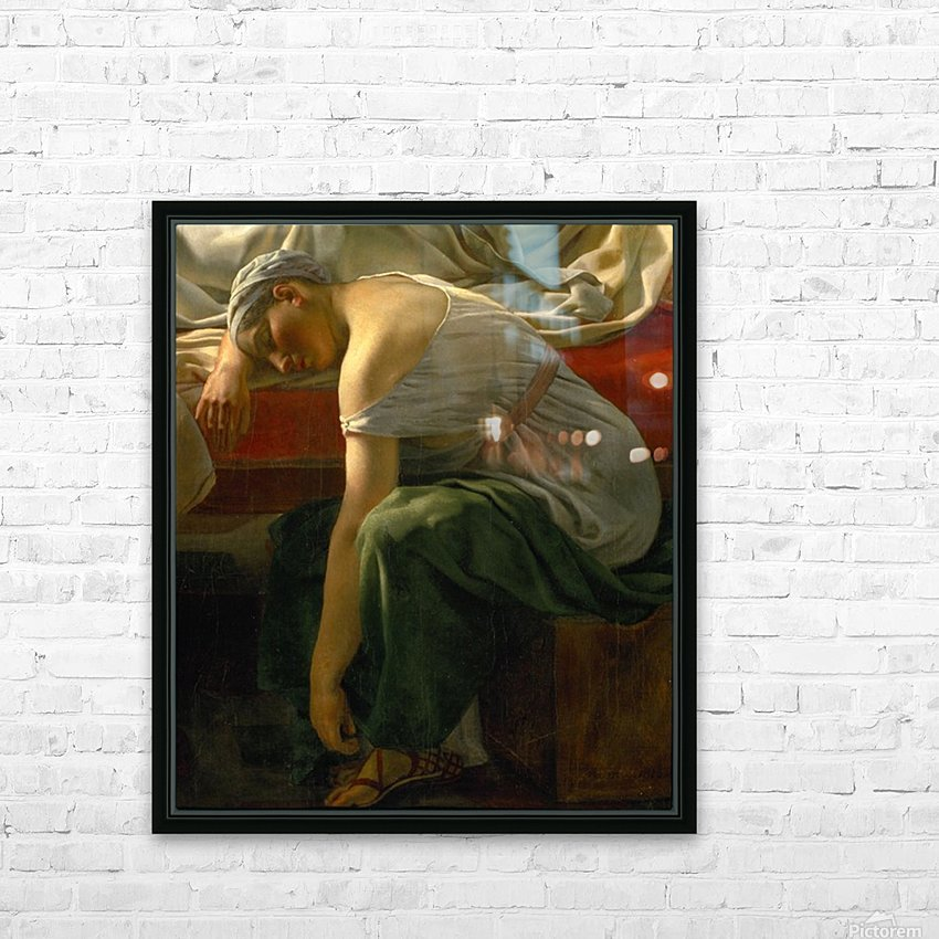 A sleeping woman in antique costume HD Sublimation Metal print with Decorating Float Frame (BOX)