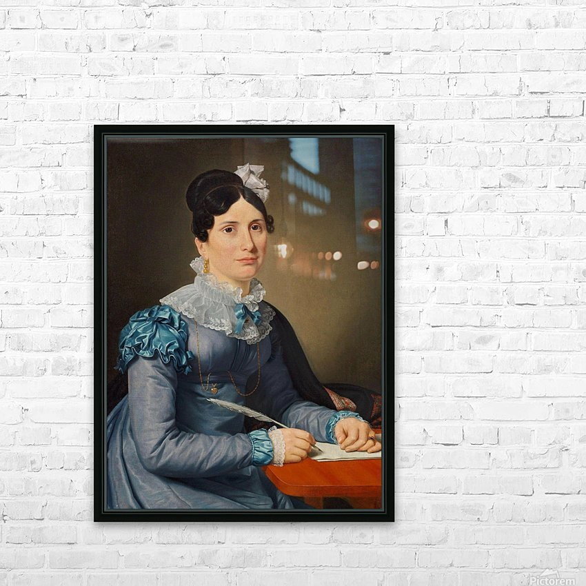 Portrait of Sarah Wolff HD Sublimation Metal print with Decorating Float Frame (BOX)