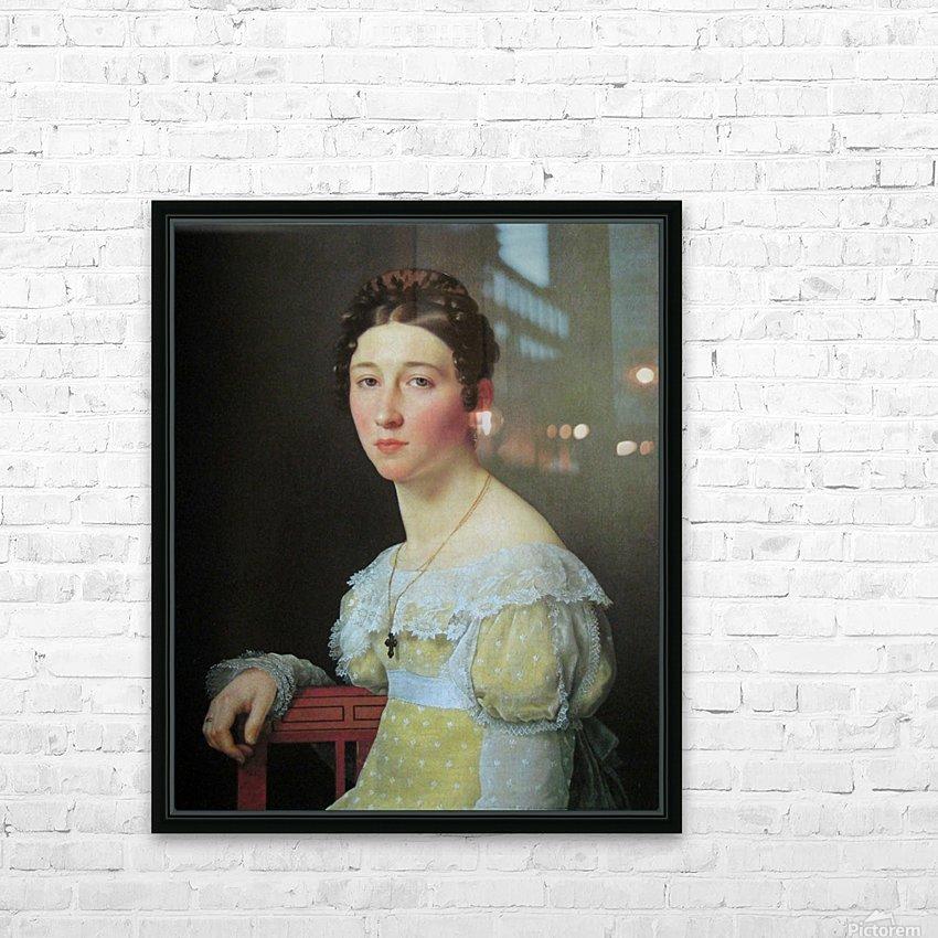 Portrait of Emilie Henriette Massmann HD Sublimation Metal print with Decorating Float Frame (BOX)