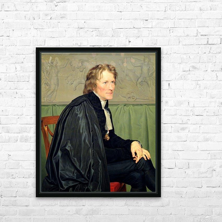 Portrait of Bertel Thorvaldsen HD Sublimation Metal print with Decorating Float Frame (BOX)