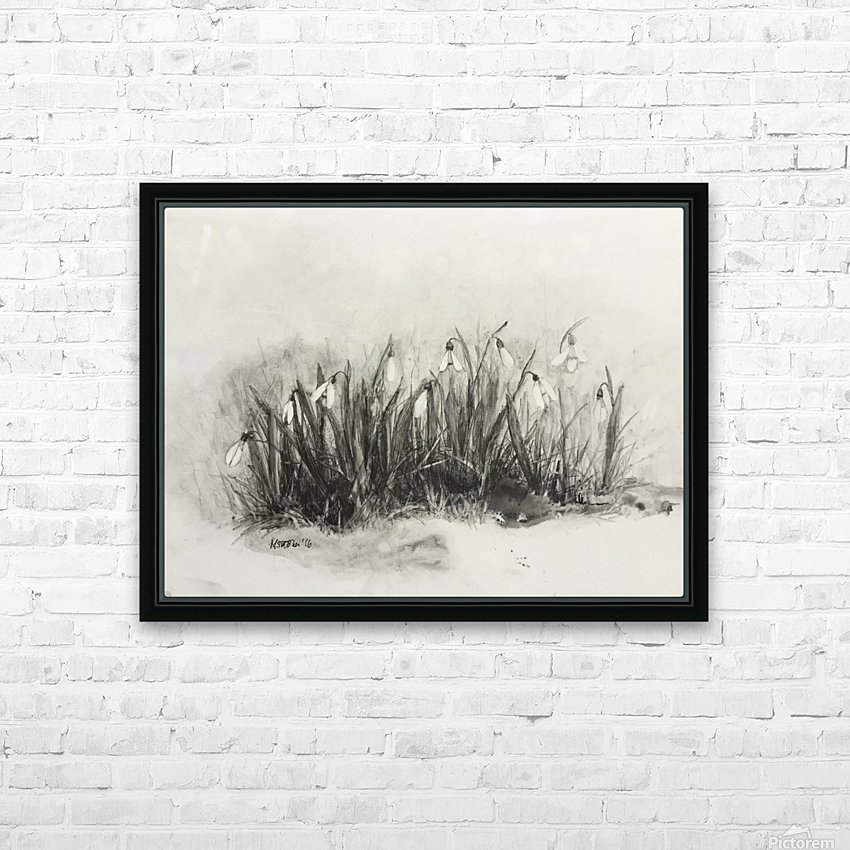 Snowdrops HD Sublimation Metal print with Decorating Float Frame (BOX)