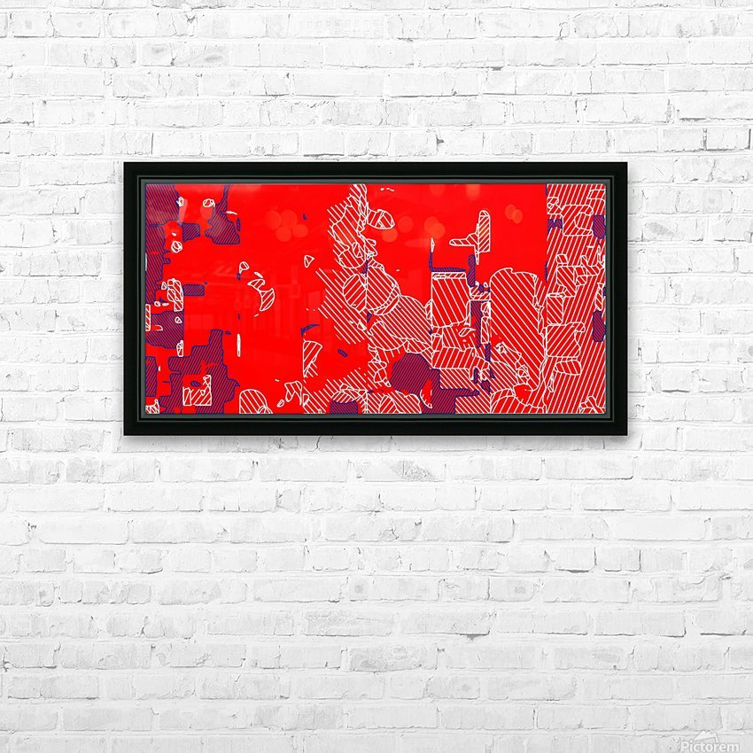 graffiti drawing and painting abstract in red and blue HD Sublimation Metal print with Decorating Float Frame (BOX)