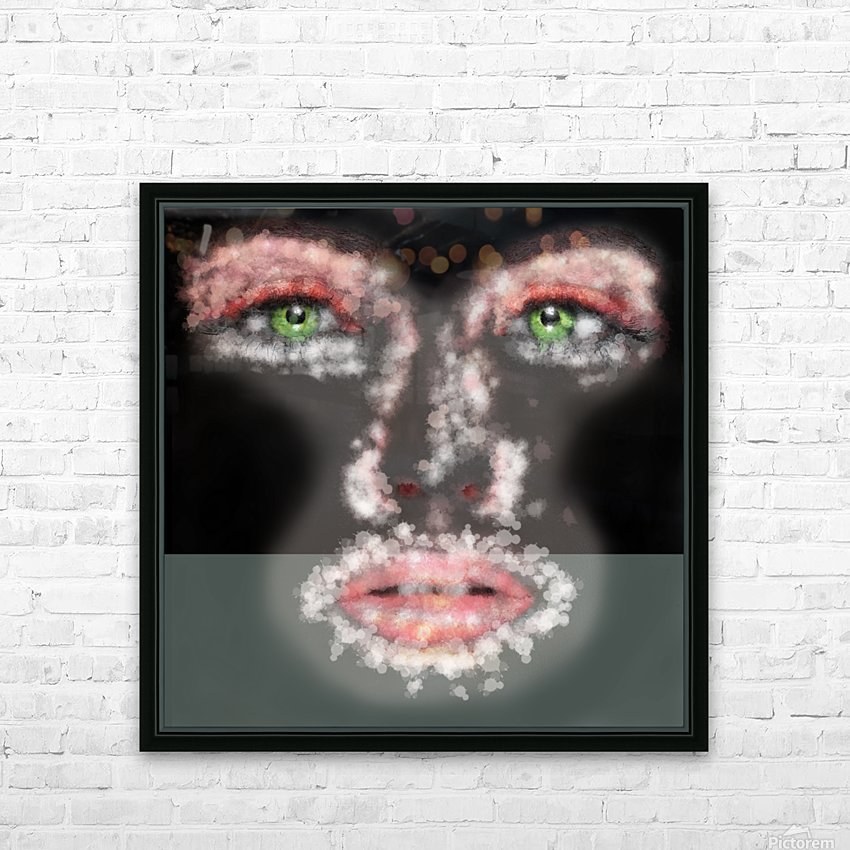 Kessania - white face HD Sublimation Metal print with Decorating Float Frame (BOX)