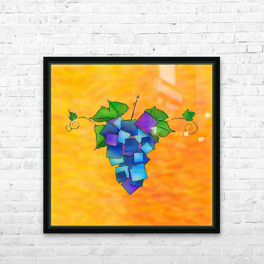 Jamurissa - square grapes HD Sublimation Metal print with Decorating Float Frame (BOX)