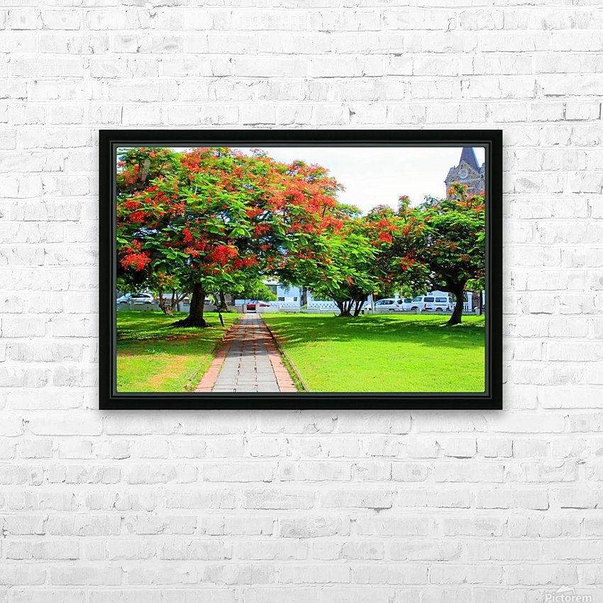 St Kitts Independence Square5 HD Sublimation Metal print with Decorating Float Frame (BOX)