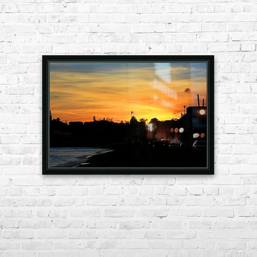 St Kitts Basseterre sunset HD Sublimation Metal print with Decorating Float Frame (BOX)