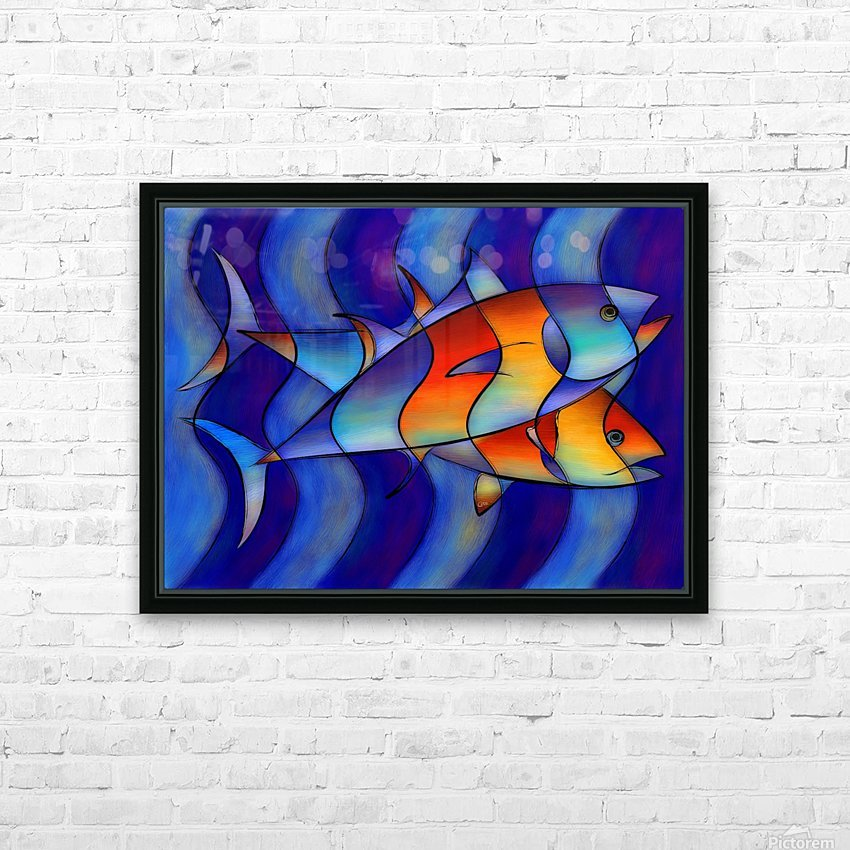 Cassanella - dream fish HD Sublimation Metal print with Decorating Float Frame (BOX)