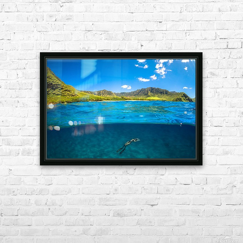 Makua HD Sublimation Metal print with Decorating Float Frame (BOX)
