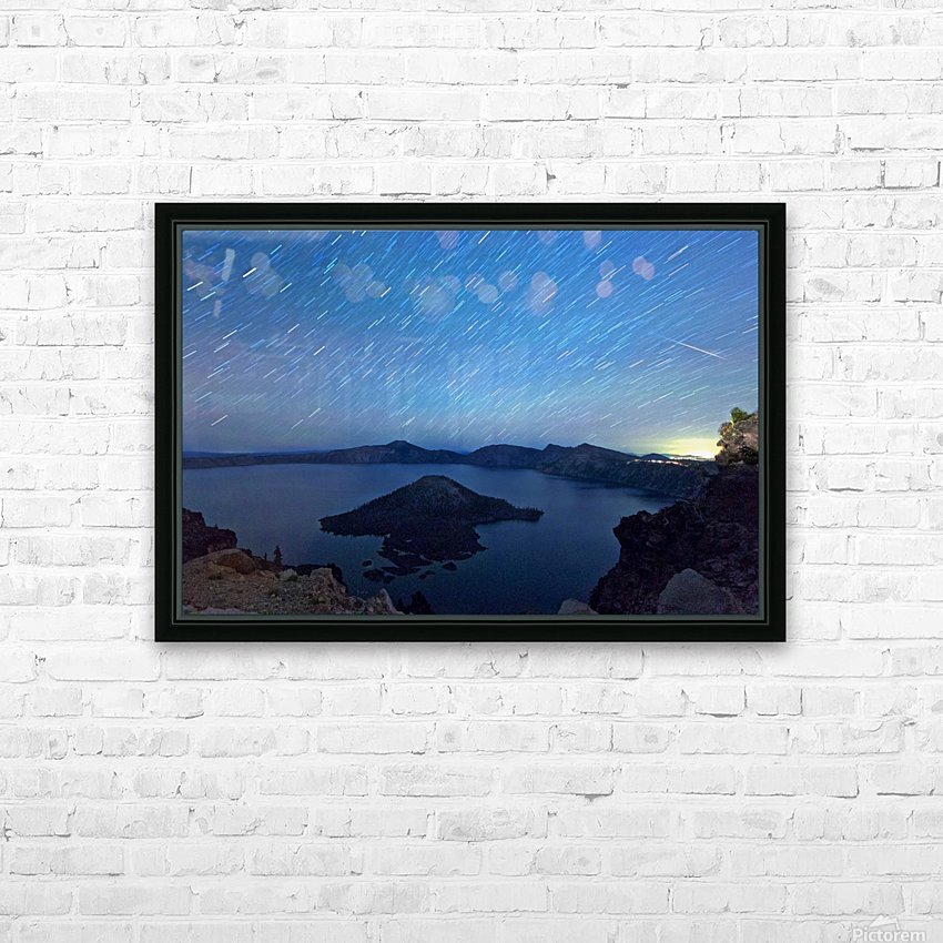 Perseid Over Crater Lake 8 11 2015 HD Sublimation Metal print with Decorating Float Frame (BOX)