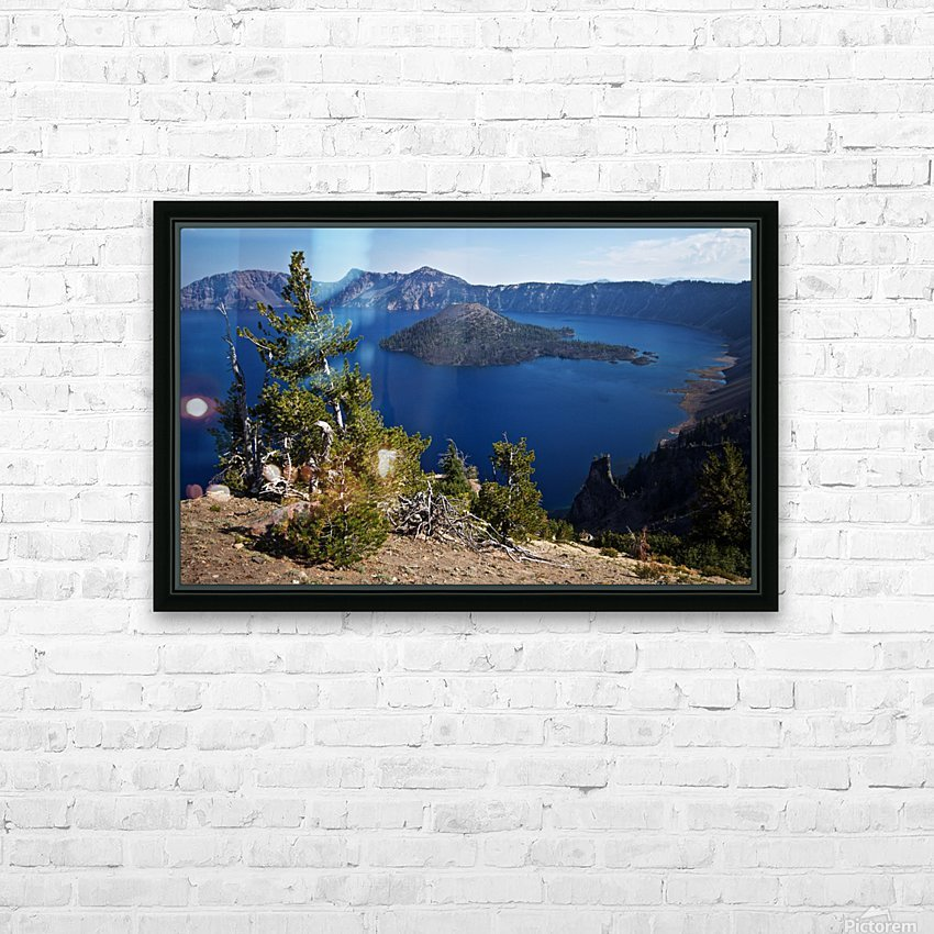 Crater Lake Scenic Aug, 2015 HD Sublimation Metal print with Decorating Float Frame (BOX)