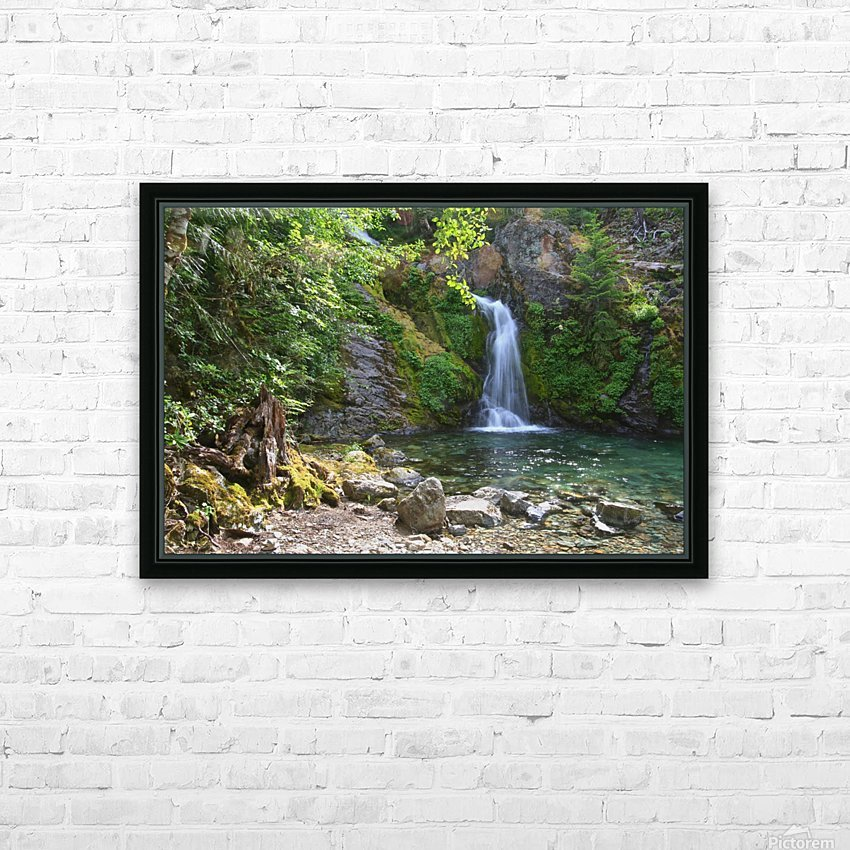 Lower portion of Sullivan Falls, Opal Creek Wilderness, Oregon HD Sublimation Metal print with Decorating Float Frame (BOX)