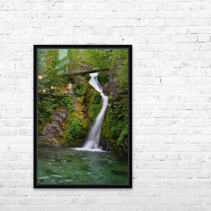 Full view of Sullivan Falls in the Opal Creek Wilderness, Oregon HD Sublimation Metal print with Decorating Float Frame (BOX)