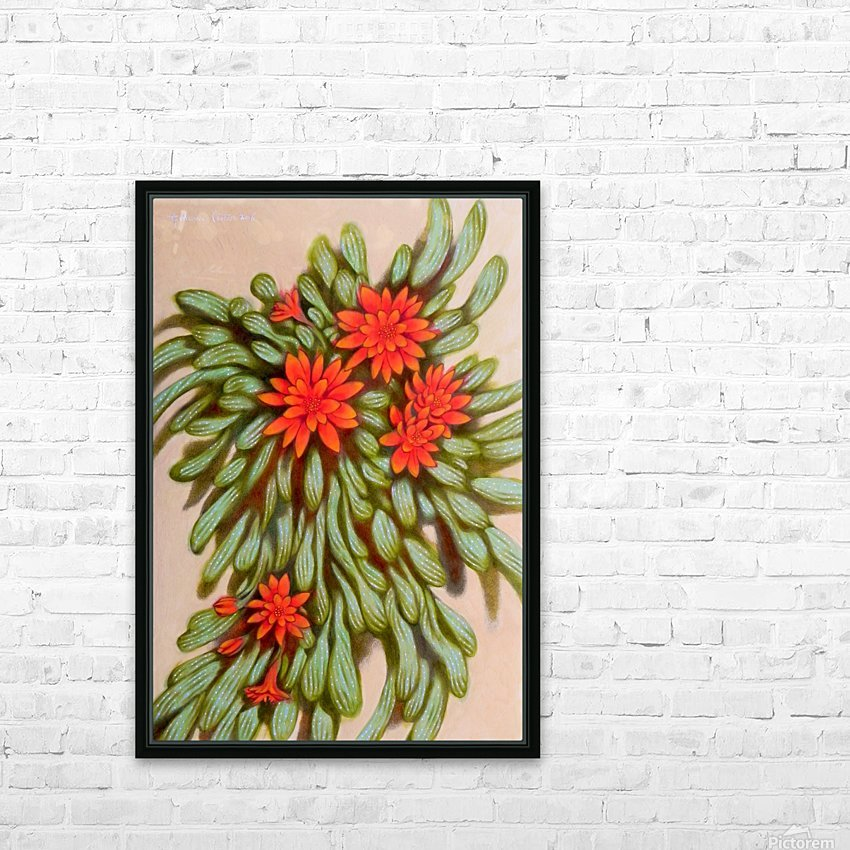 red flowers HD Sublimation Metal print with Decorating Float Frame (BOX)