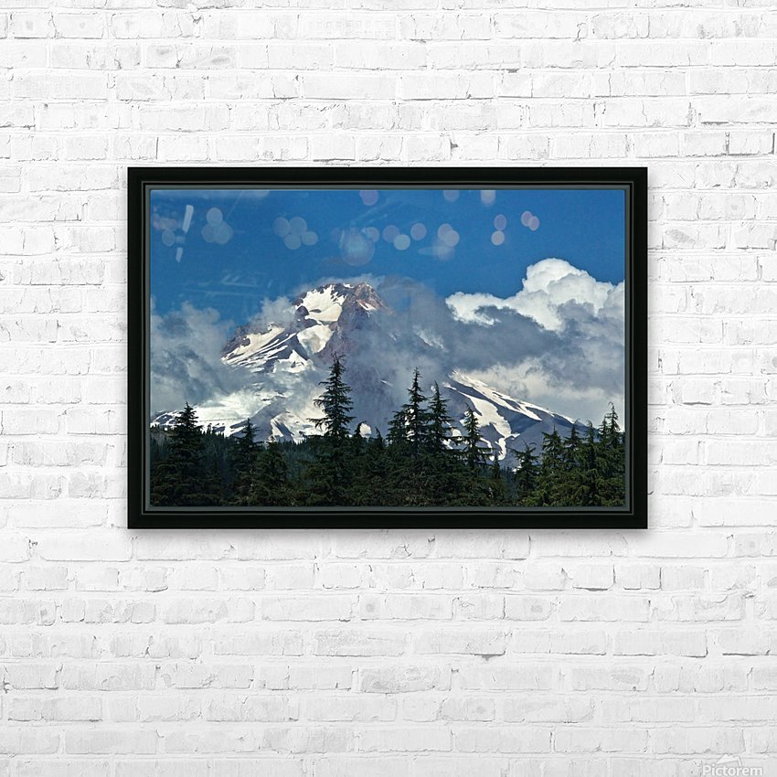 Clouded Peak-Mt Hood HD Sublimation Metal print with Decorating Float Frame (BOX)
