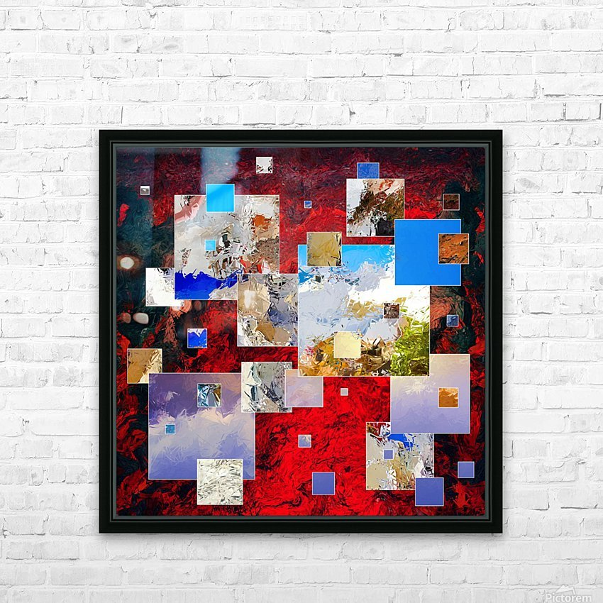 Espanissia - square flowers HD Sublimation Metal print with Decorating Float Frame (BOX)